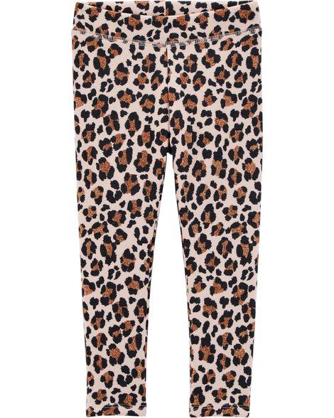 0e96ddbd9 Leopard Fleece Leggings | OshKosh.com