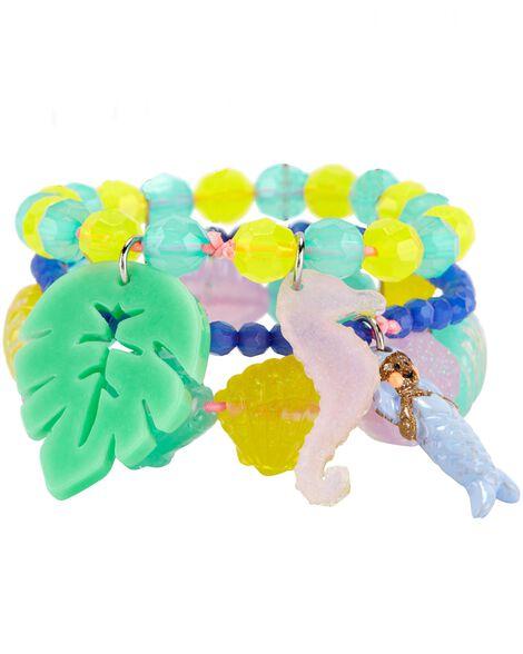 3-Pack Seashell Bracelets