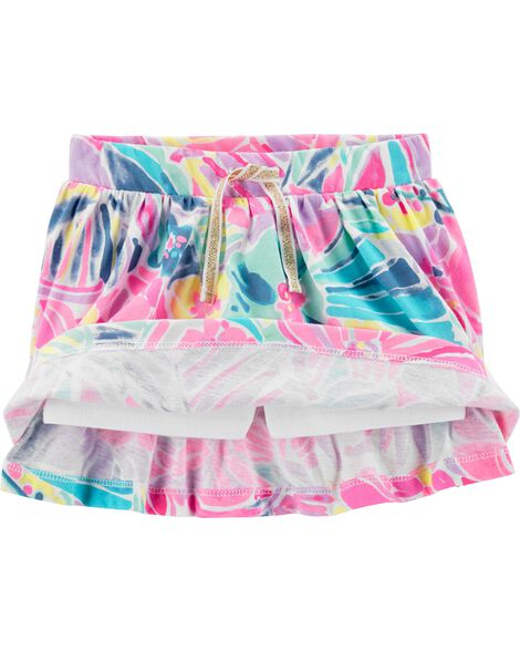 Tropical Floral Scooter Skirt