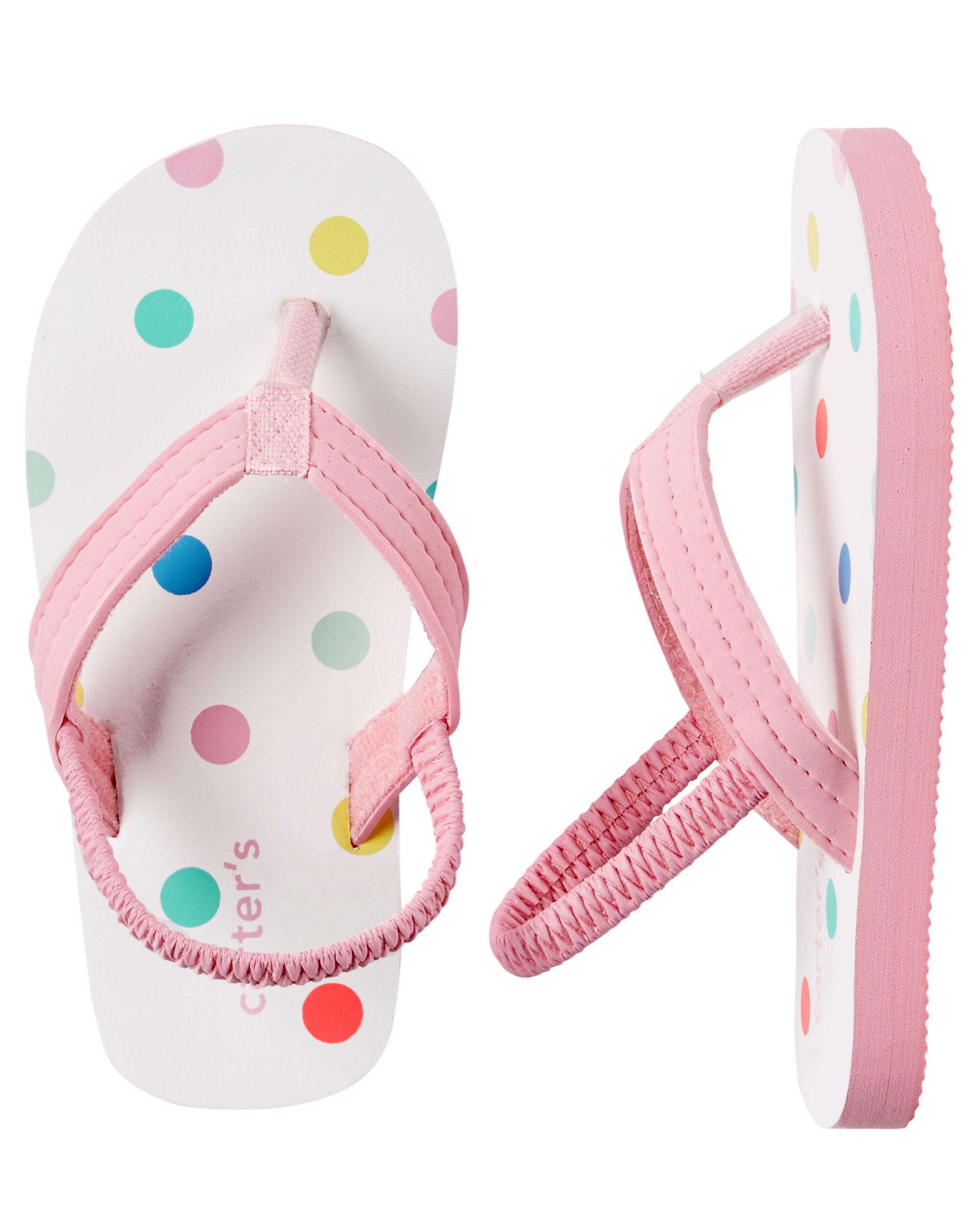 04a3ae478 Baby Girl Carter s Polka Dot Flip Flops