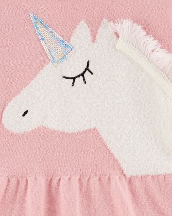 Peplum Hem Unicorn Sweater