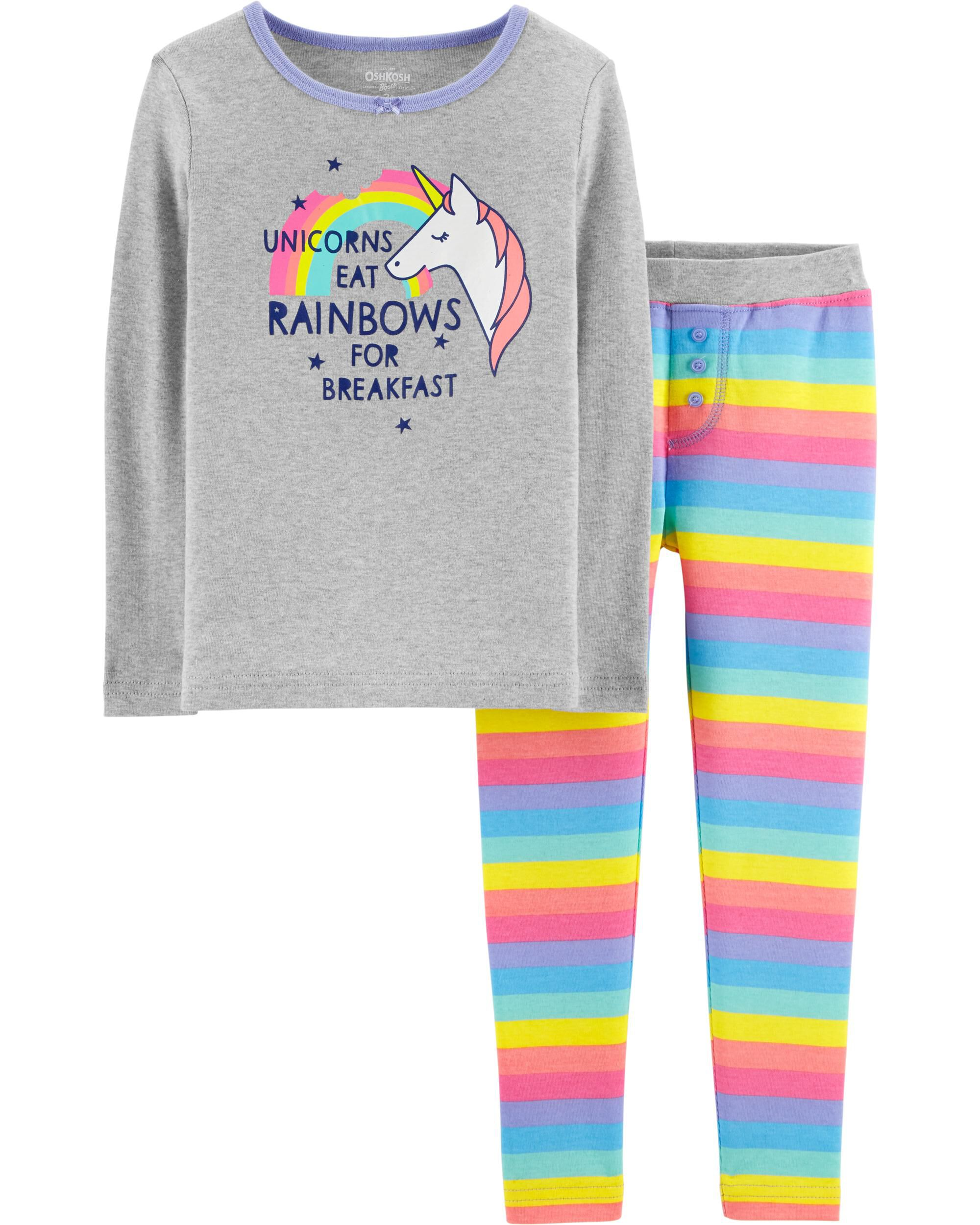 f71430c7f Snug Fit Rainbow Unicorn Cotton PJs | OshKosh.com