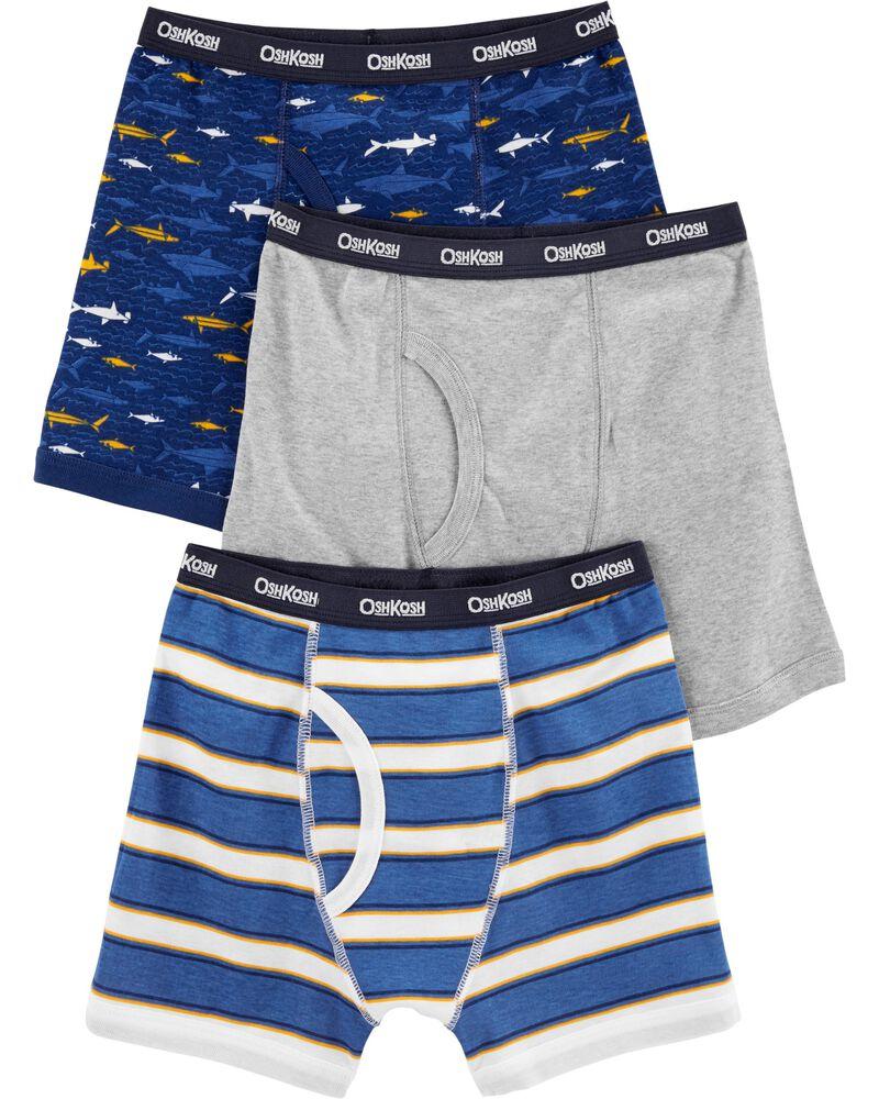 NWT Oshkosh Boys Boxer Brief Underwear 3pair//pack tiger Checker stripes