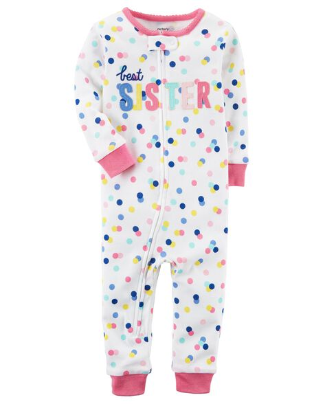 Baby Girl 1-Piece Snug Fit Cotton Footless PJs  a49ef575b
