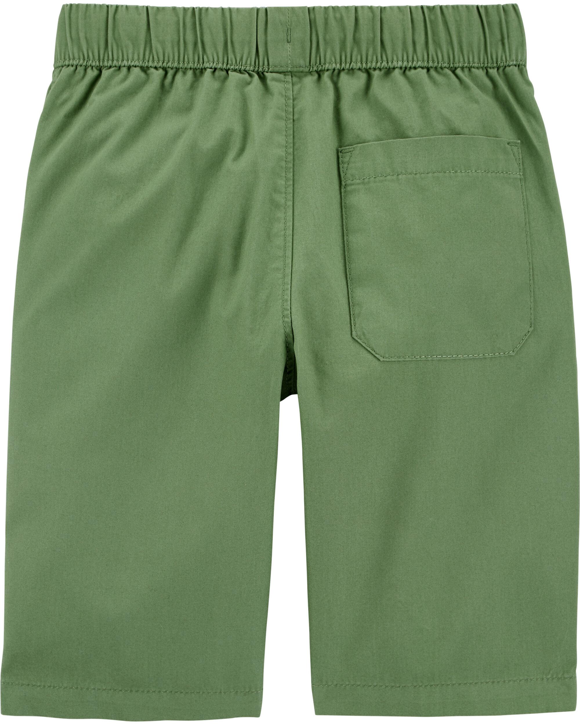 OshKosh Boys Pull-On Poplin Shorts 18-24m Green