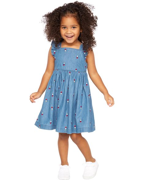 96252640eff34 Ice Cream Chambray Dress | OshKosh.com