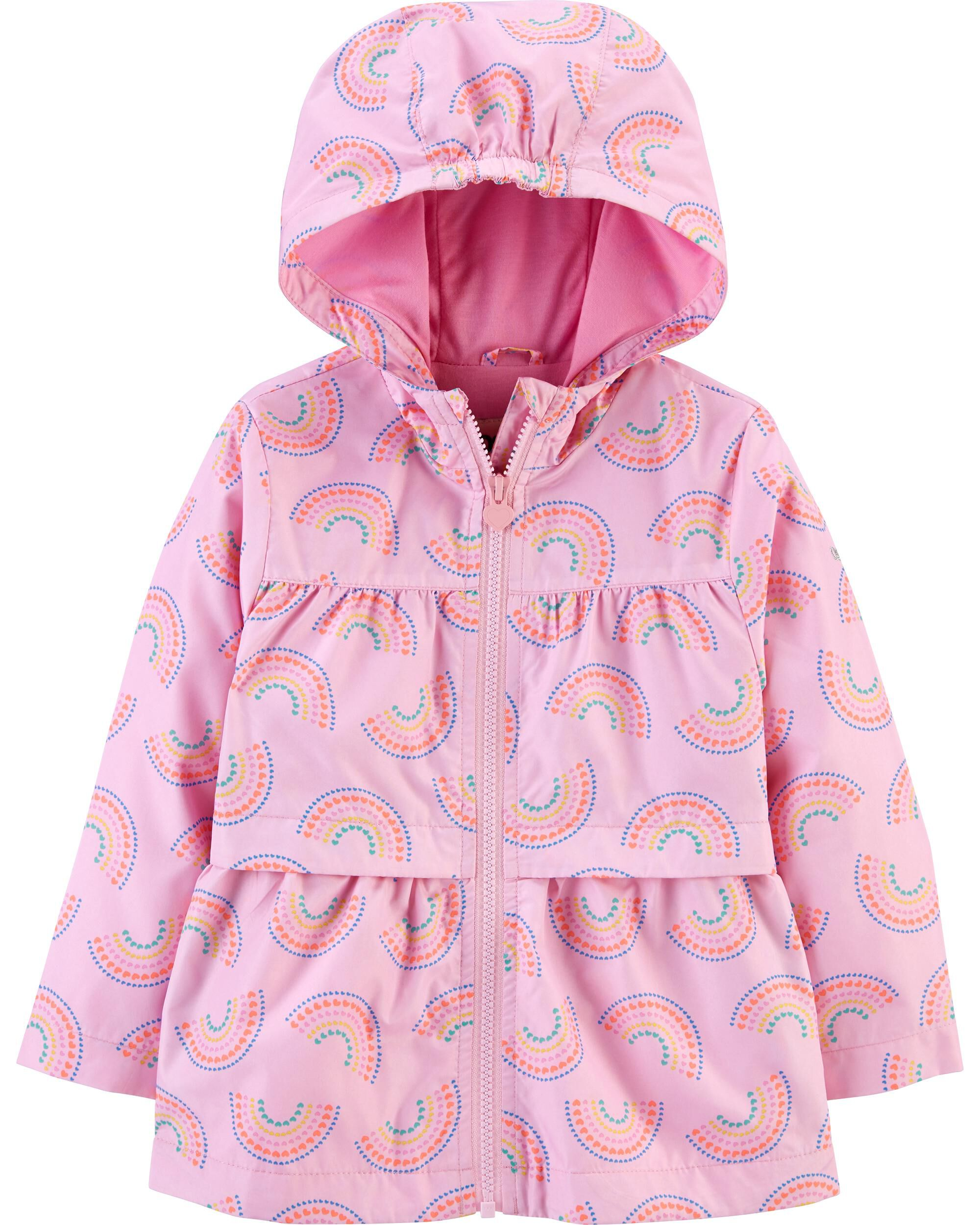 Osh Kosh B/'gosh Infant Girls Fuchsia 4 in 1 Outerwear Coat Size 12M 18M 24M
