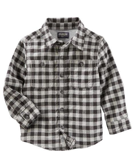 cac116971 Button-Front Plaid Shirt