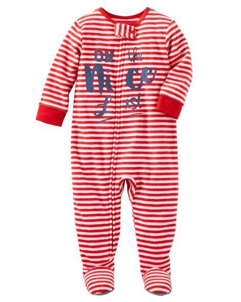 1 Piece Nice List Fleece Pjs Oshkosh Com