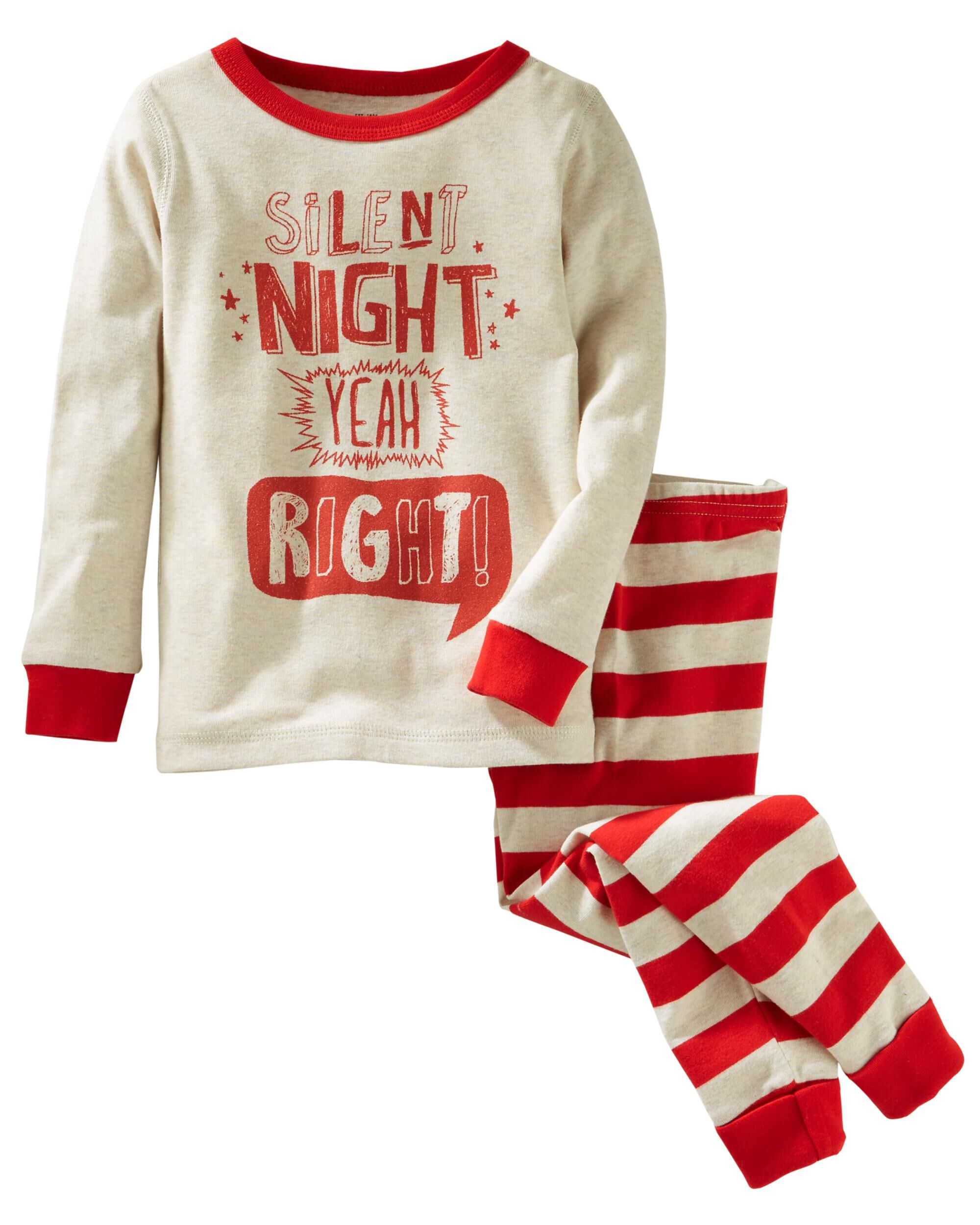 2-Piece Silent Night Snug Fit Cotton PJs   OshKosh.com