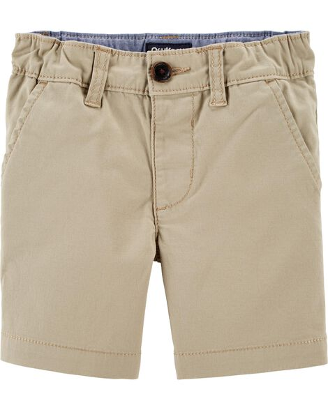 Stretch Flat-Front Shorts