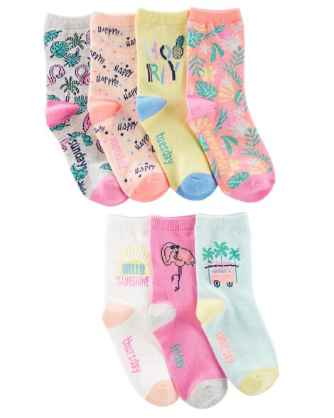 7 Pack Tropical Crew Socks by Oshkosh