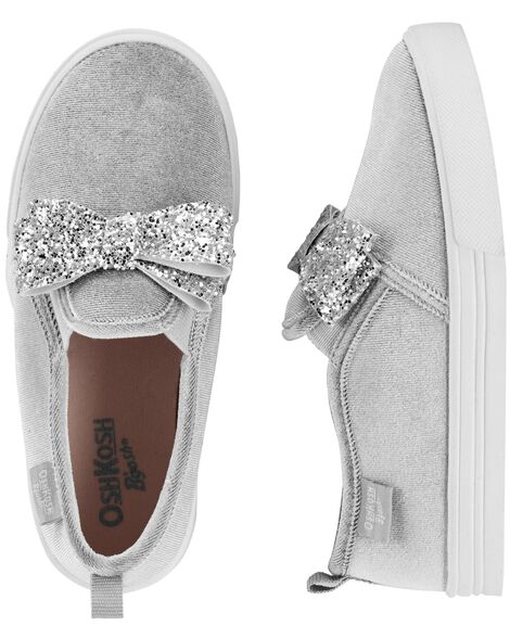 d758634291335 OshKosh Glitter Bow Slip-On Shoes | OshKosh.com