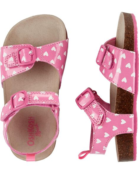 OshKosh Buckle Heart Sandals