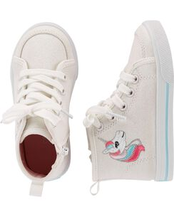 bb10de971e79 Carter s Glitter Canvas Unicorn High Top Sneakers