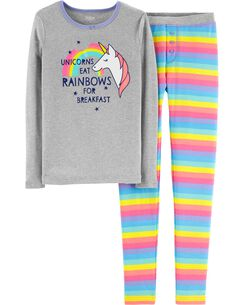 a4fed6a099 Snug Fit Rainbow Unicorn Cotton PJs