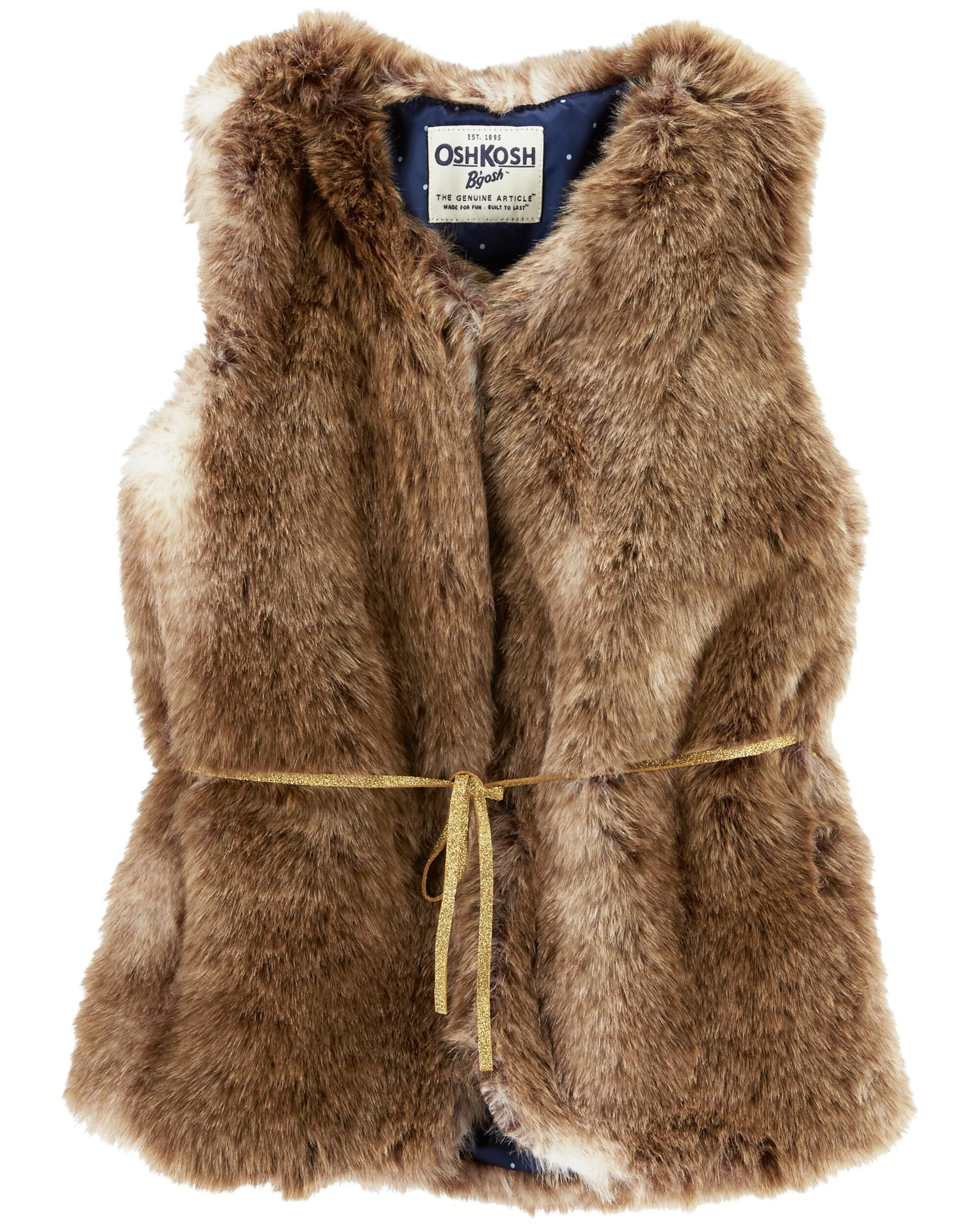 96c6158ba Kid Girl Faux Fur Vest