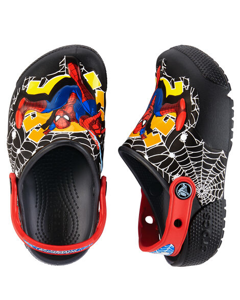 b0a365af4 Kid Boy Crocs Fun Lab Lights Spiderman Clogs