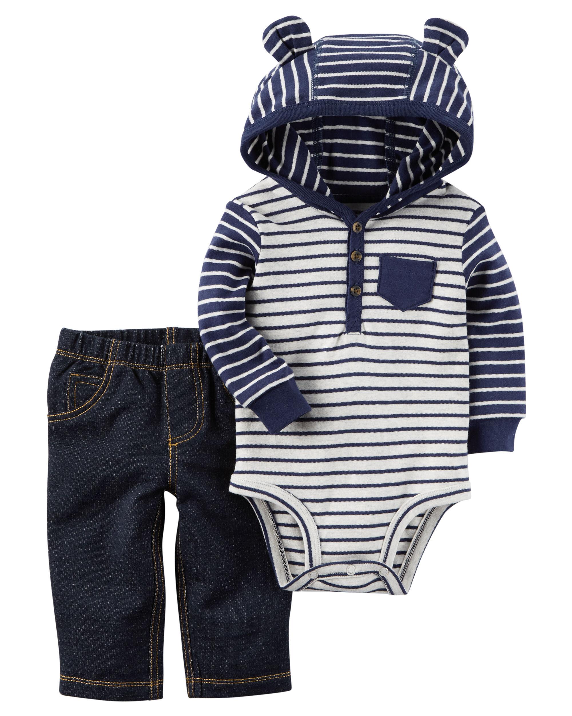 4da5e1215 Baby Boy 2-Piece Bodysuit Pant Set | Carters.com