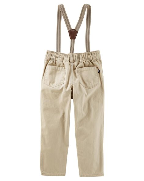 Suspender Pants - Expedition Khaki Wash