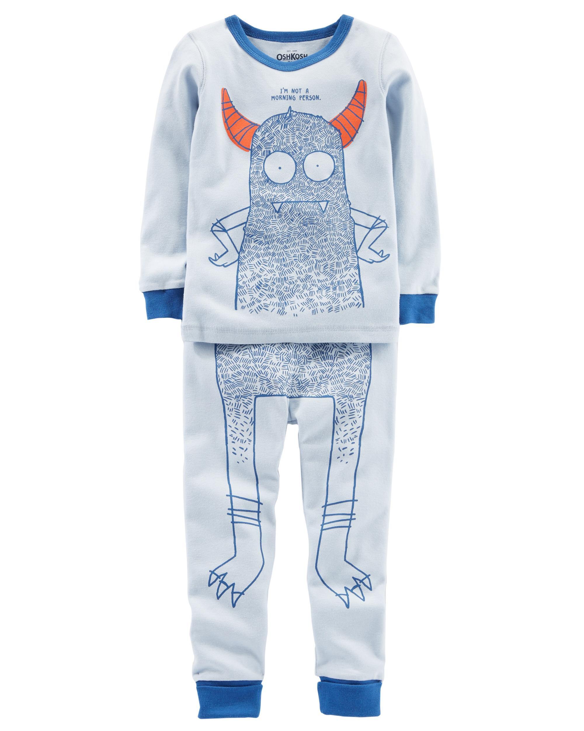 toddler boy pajamas sleepwear shipping 2 piece snug fit cotton pjs