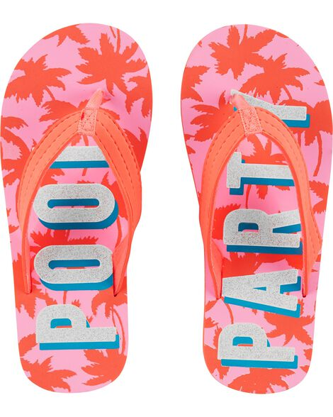 OshKosh Pool Party Flip Flops