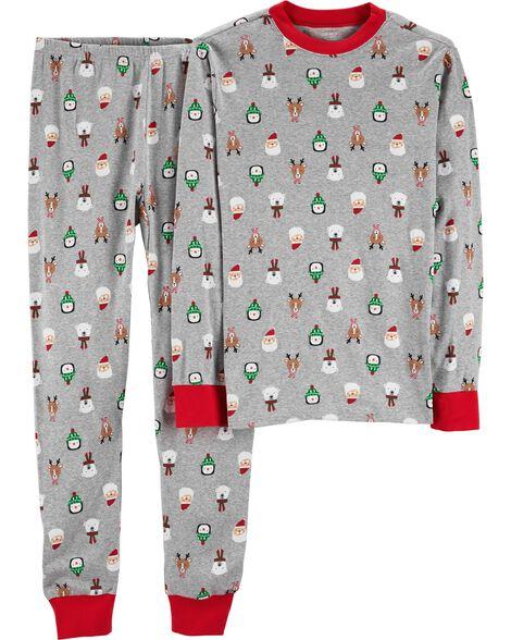 705af77843 Baby Boy 2-Piece Toddler Christmas Snug Fit Cotton PJs
