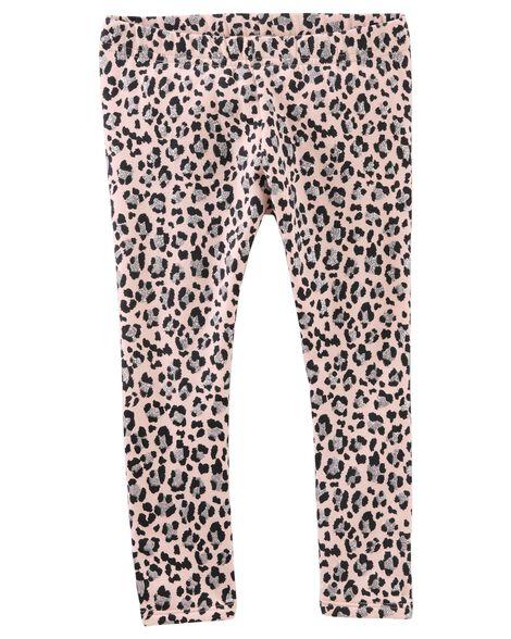 386ffc205 Fleece-Lined Animal Print Leggings | OshKosh.com