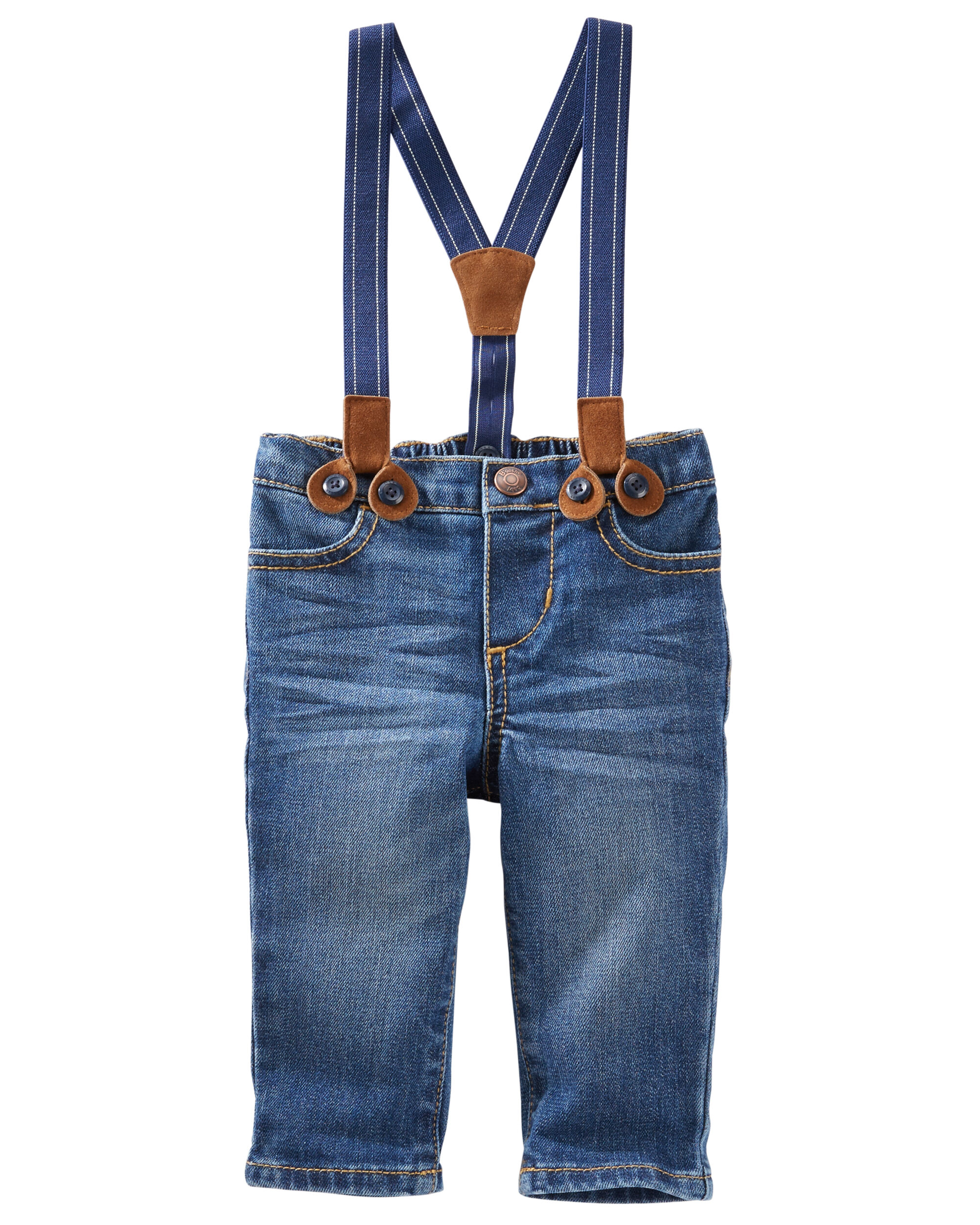 7c9ef8873 Suspender Jeans - Derby Wash   OshKosh.com