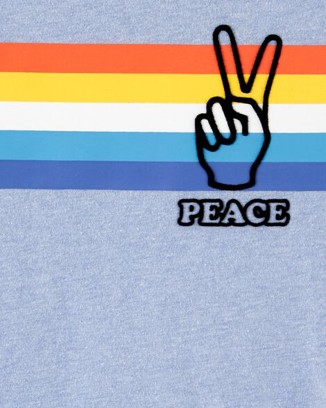Striped Peace Jersey Tee