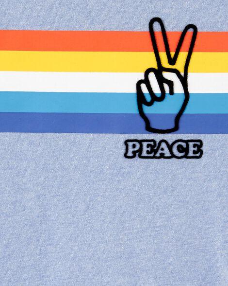 Striped Peace Jersey Tee