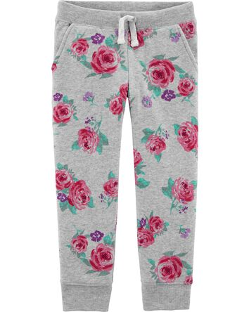 Logo Fleece Floral Pants