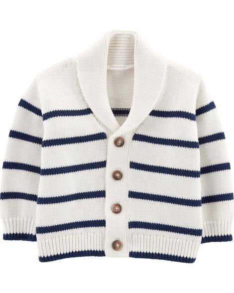 Striped Shawl Cardigan