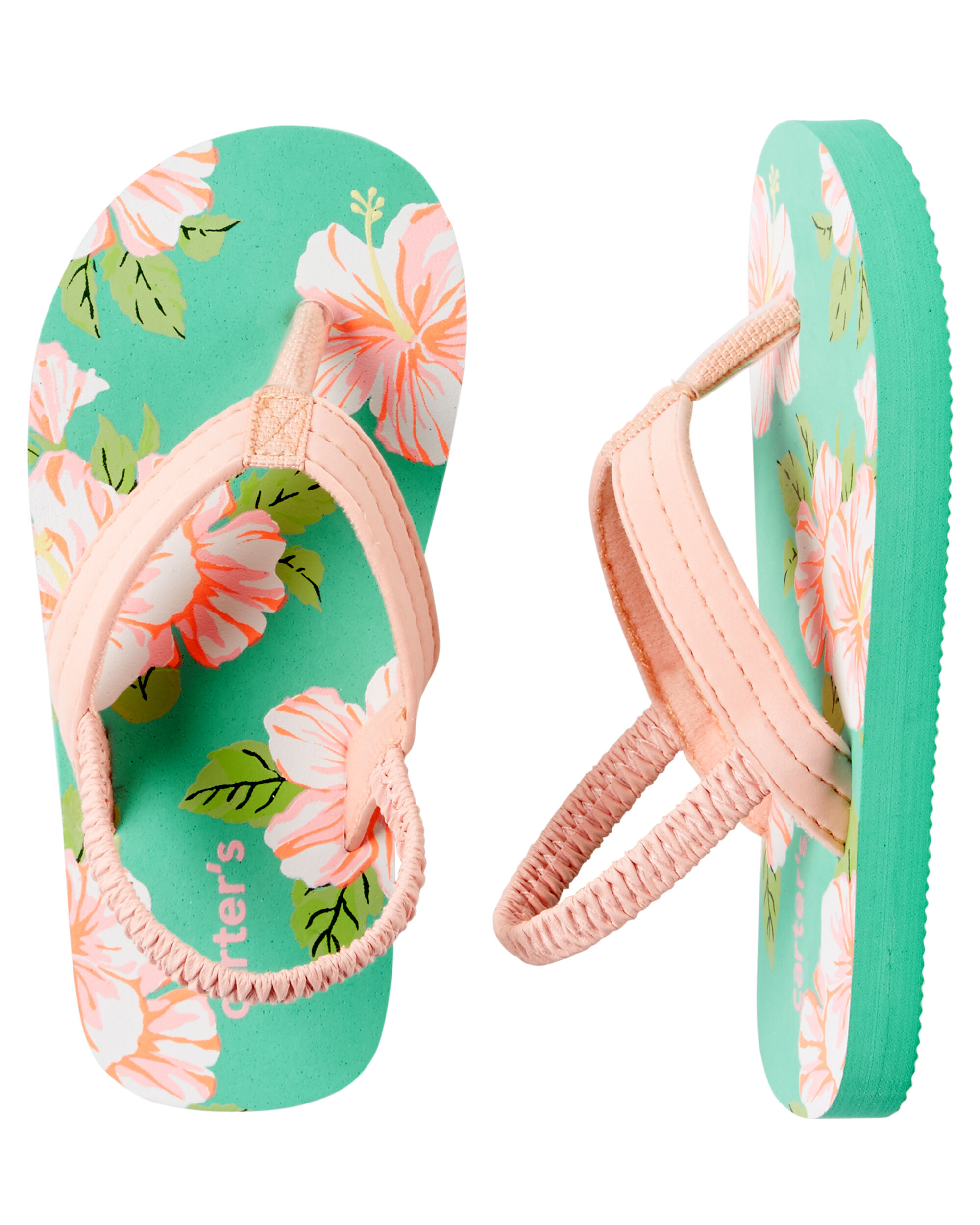 Toddler Girl Carter's Tropical Flip Flops | Carters.com