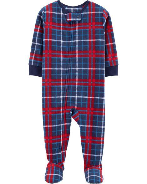 0b30195f55 Images. 1-Piece Plaid Fleece PJs
