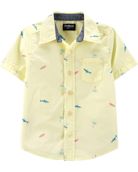 Button-Front Surf Shirt
