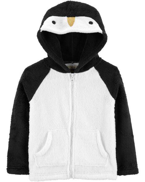 Fuzzy Penguin Hoodie