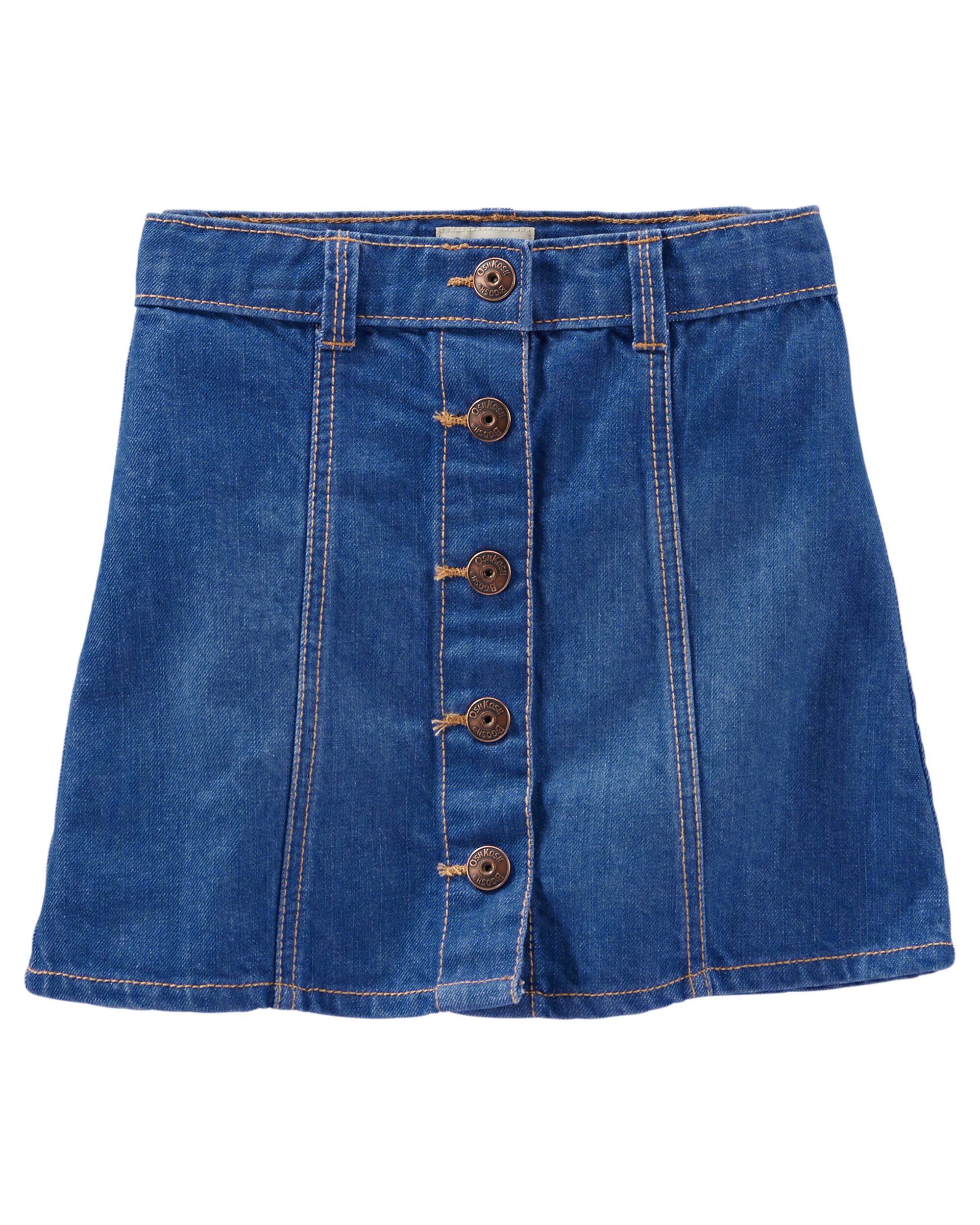 Button-Front Denim Skirt | Carters.com