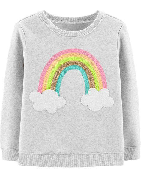 Glitter Rainbow Pullover