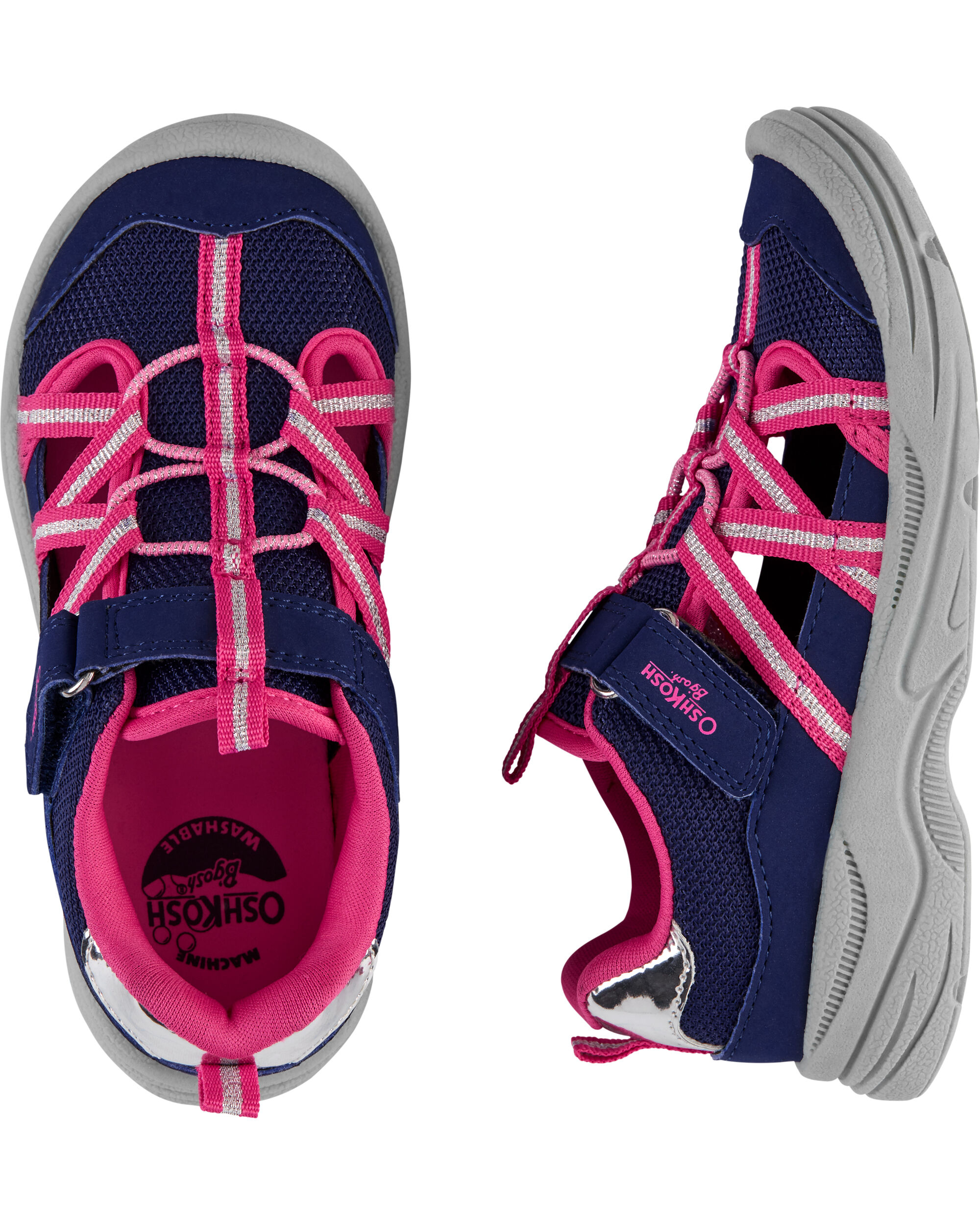 OshKosh Navy Bump Toe Sandals | oshkosh.com