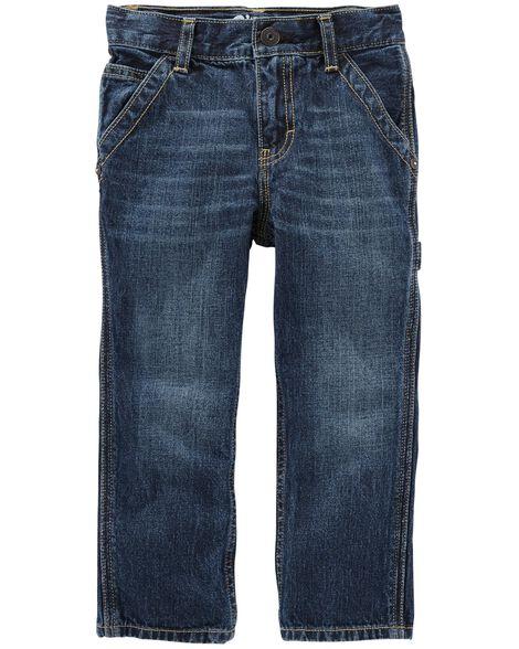Workwear Straight Jeans - Vintage Blue Wash