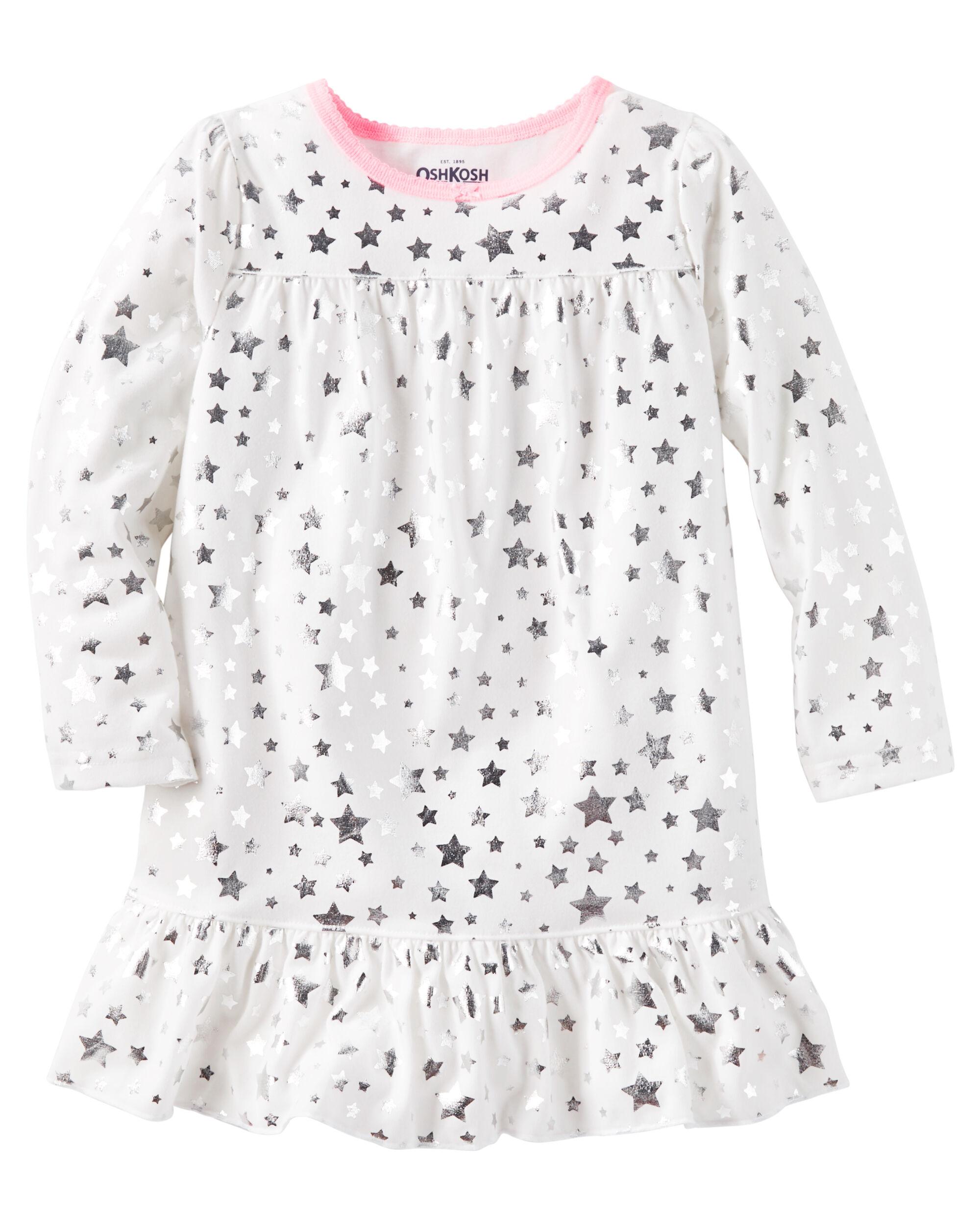 Sparkle Star Sleep Gown   OshKosh.com