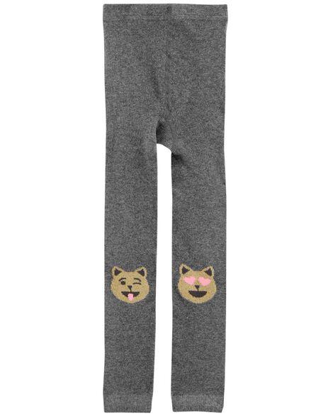 Cat Emoji Footless Tights