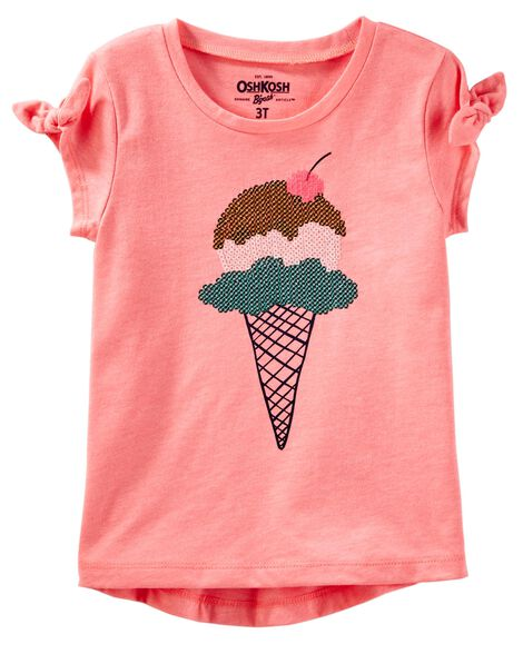 872ef75f6e9be Sequin Ice Cream Tee | OshKosh.com