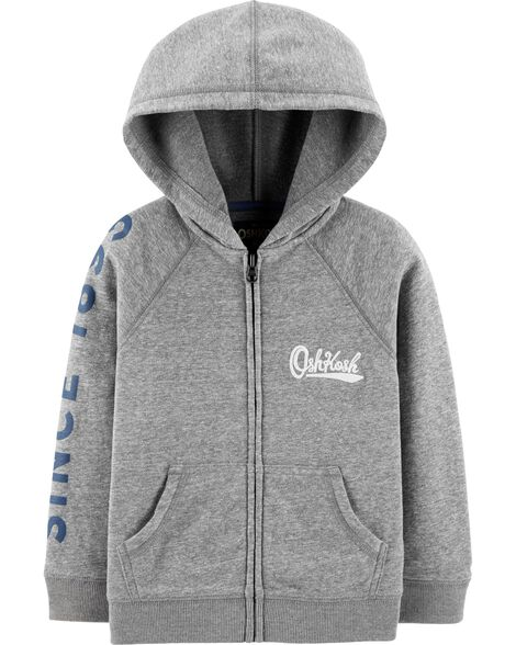 Zip-Front French Terry Hoodie