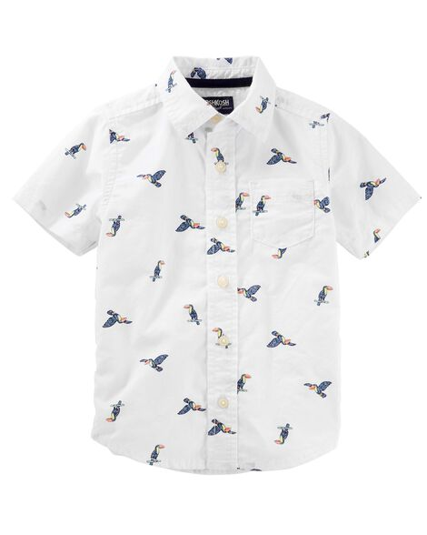 03feca719 Toucan Button-Front Shirt | OshKosh.com
