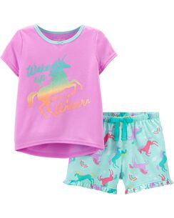 14631951e2 Pajamas. 2-Piece Unicorn PJs
