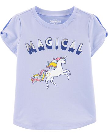 Unicorn Twist-Sleeve Tee