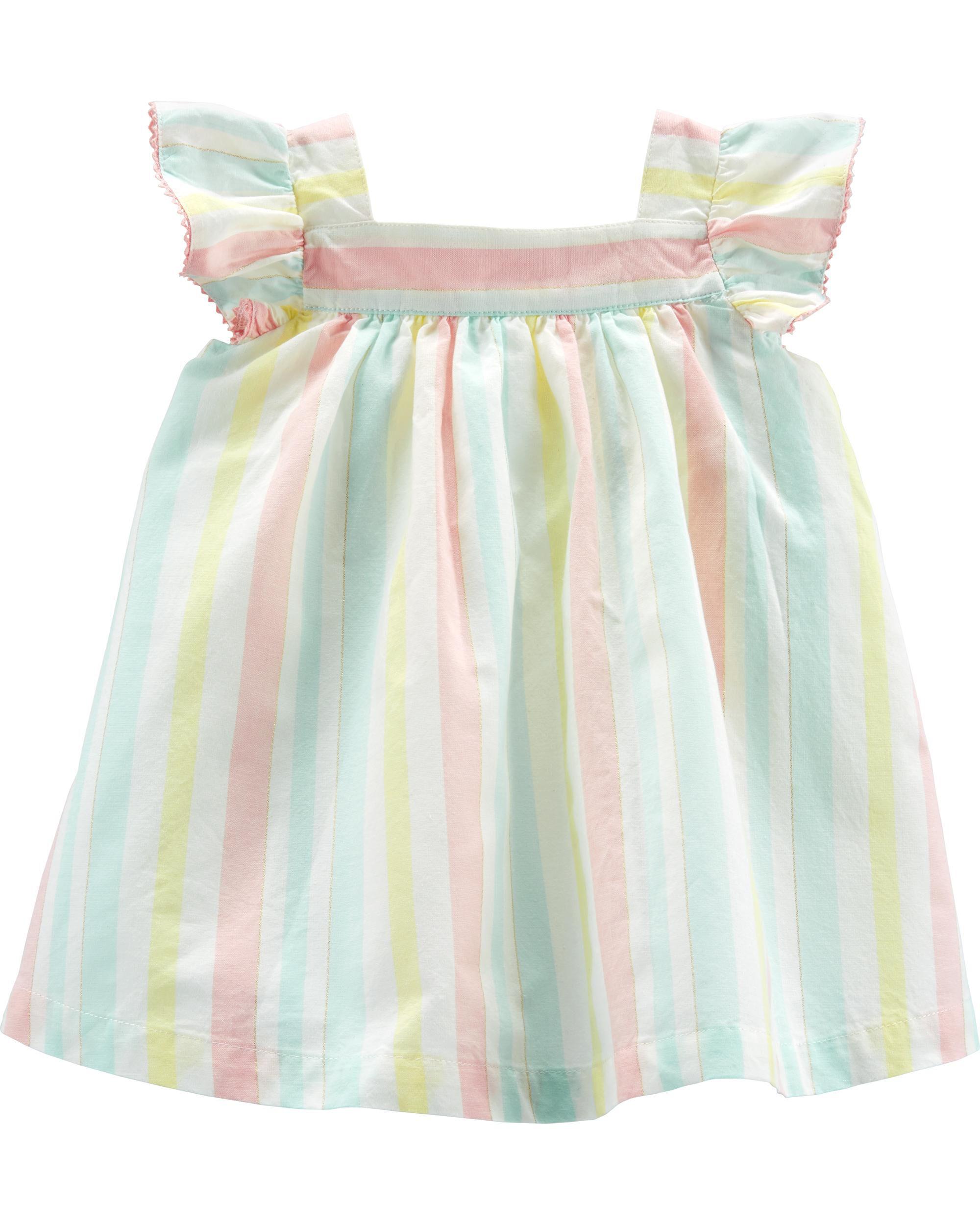 OshKosh Bgosh Baby Girls Striped Sundress w//diaper cover
