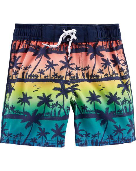 OshKosh Palm Tree Swim Trunks